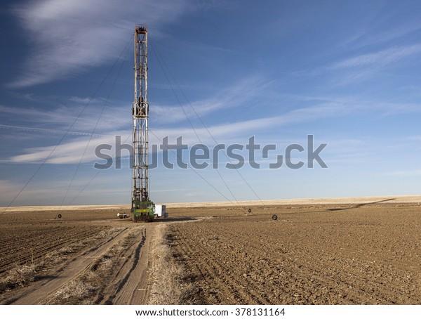 Fracking rig in a Colorado field