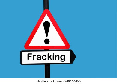Fracking warning sign