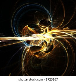 Fractal abstract of molten gold mines