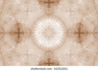 Fractal art background for creative design. Abstract multicolor fractal ornament. Decoration for wallpaper desktop, poster, cover booklet, card. Psychedelic. Print for clothes, t-shirt. Magic graphics