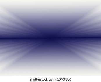A fractal background with a distinct horizon line in dark blue and graduating through lighter shades of blue until it ends with white at the edges.