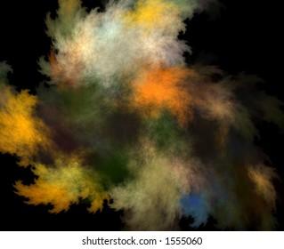 Fractal color clouds
