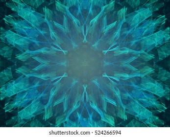 Fractal decorative bright  beautiful floral background