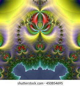 Fractal floral background