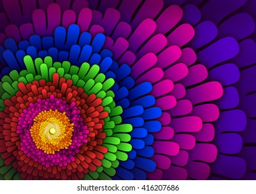 Fractal flower effect