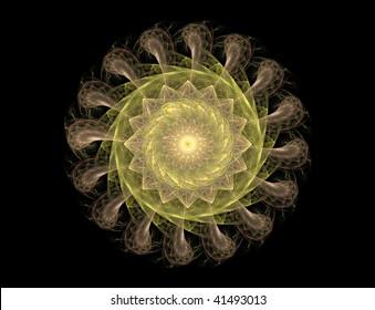 fractal illustration of color object on black