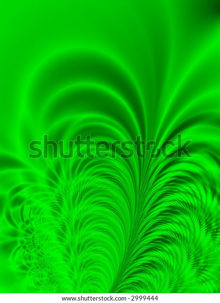 Fractal image depicting abstract lush tropical palms.