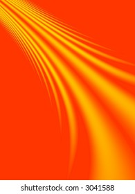 Fractal image depicting a fire spray for a background.
