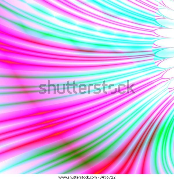 Fractal image of a multi color petal