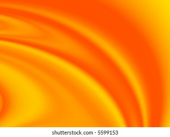 Fractal image of a rippled red satin sheet.