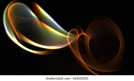Fractal Light Geometric Illuminated Structure Twisted Colorful Lines