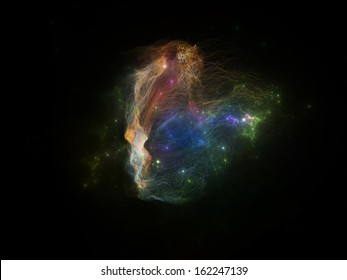 Fractal Nebulae series. Design composed of fractal textures and lights as a metaphor on the subject of design, science and technology