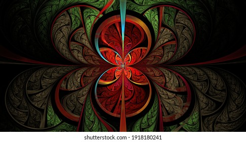 fractal, pattern, tangled, abstraction, symmetry
