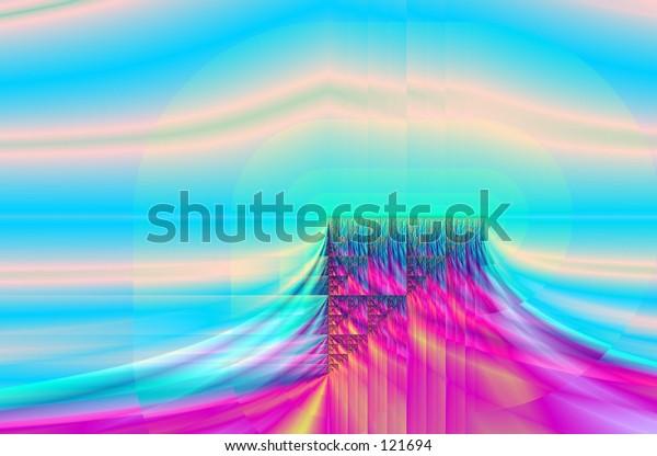 fractal plateau landscape