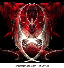 Fractal rendering of an abstract heart angel