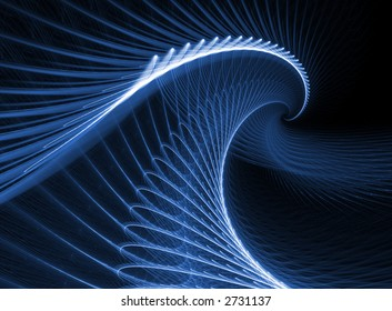 fractal rendering resembling big wave