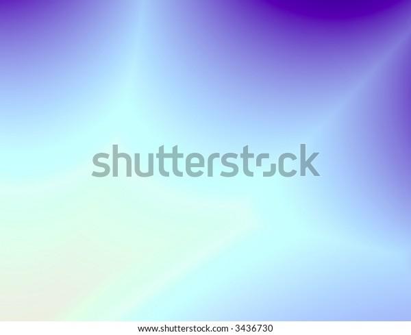 Fractal rendition of a blue sky with lightning