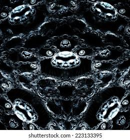 Fractals pattern on black.