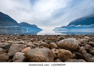 Frafjord stones at coast fjord rocks
