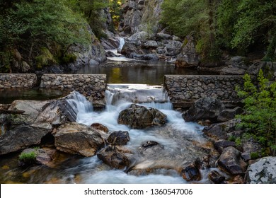 fragas sao simao Waterfall, in figueiro dos vinhos, portugal.