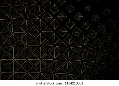 Fragile copper / brown, abstract woven diamond patter (3D illustration, black background)
