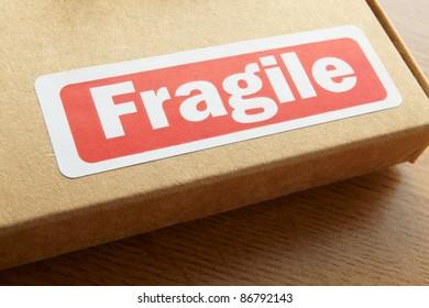 Fragile parcel for despatch