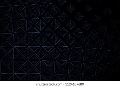 Fragile purple / grey abstract woven diamond patter (3D illustration, black background)