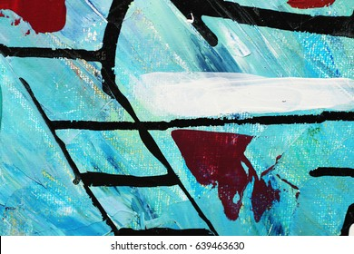 Fragment of an abstract painting