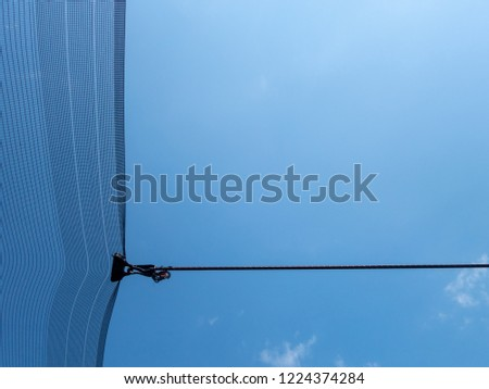 Fragment Antihail Netting Perpendicular Stretched Rope Stock Photo