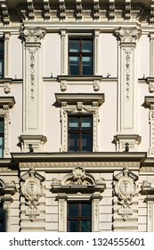 Fragment of Art Nouveau architecture style of Riga city