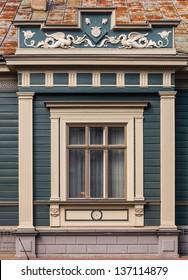 Fragment of Art Nouveau architecture style of Riga city , Latvia