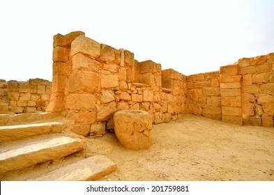 Fragment of the Avdat National Park World Heritage Sate. Israel.