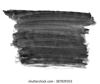 A fragment of the black background painted with gouache