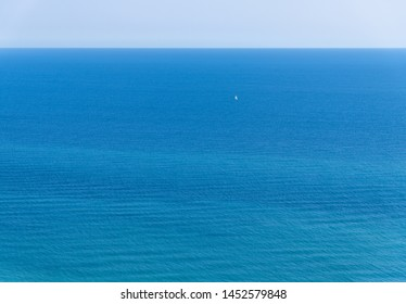 Fragment of the Black Sea with the horizon and without shore