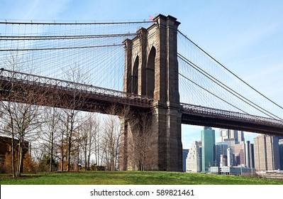 fragment brooklyn bridge in new york city