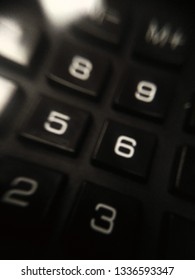 fragment of a calculator for the background of business