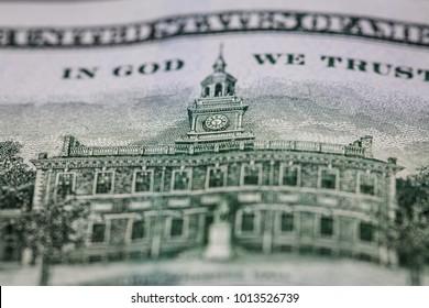 fragment of dollar back