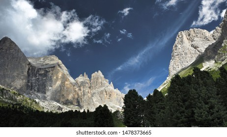 Fragment of the Dolomites, natural heritage of humanity