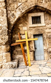 Fragment of Door of Church of the Holy Sepulchre. Jerusalem, Israel
