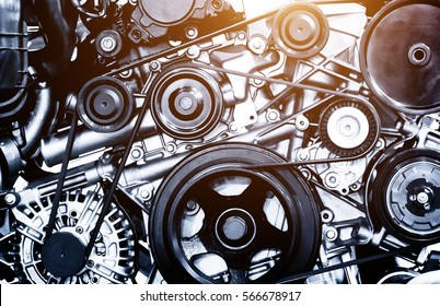 A fragment of the engine for auto concept design background