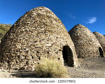 Fragment of famous ancient charcoal kilns for maring coal, Death Valley National Park, California, USA