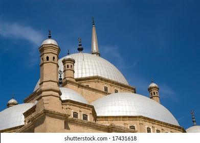 Fragment of famous mosque of Mohamed Ali (Muhammad Ali Pasha) at Saladin Citadel of Cairo, Egypt