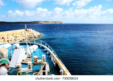 Fragment of ferry in the way from Malta to Gozo
