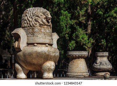 Fragment of the Five Stone Sacrificial Vessels at the altar in the Beijing Ming Dynasty Imperial Tombs at MingLou Tower