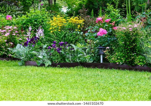 Fragment Garden Design Variety Perennial Garden Stock Photo Edit