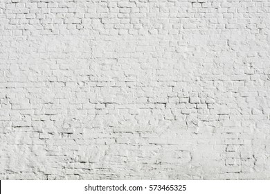 fragment huge brick wall painted by white with detailed paint texture