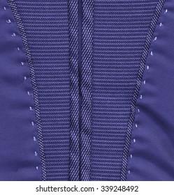 fragment of jacket as blue textile background. Useful for design-works