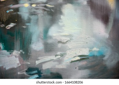 Fragment of multicolored texture painting oil on canvas. Abstract art background.