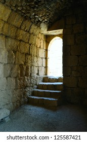Fragment of the Nimrod Fortress,  a medieval fortress in the northern Israel.