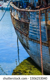 Fragment of an old abandoned ship. Brittany. France